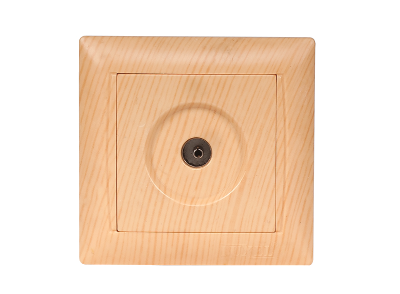 Розетка телевизионная PRIMERA (3809) сосна